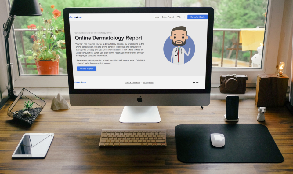 Derm4Me Website